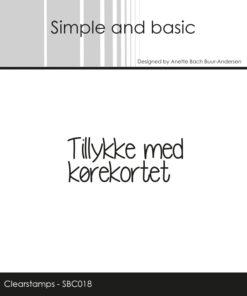Stempel / Tillykke med kørekortet / Simple and basic