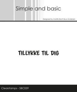 Stempel / Tillykke til dig / Simple and basic