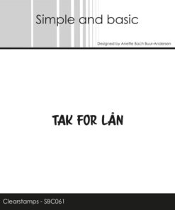 Stempel / Tak for lån / Simple and basic