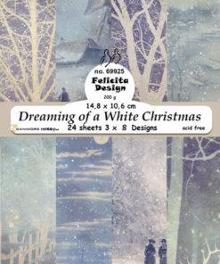 Karton A6 / Dreaming of a white christmass / Felicita Design