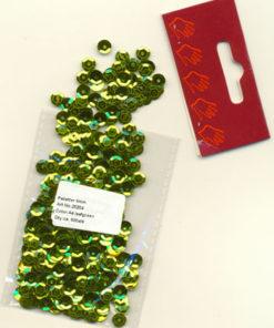 Pailletter / Bladgrøn / 6 mm