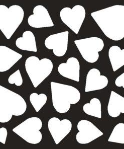 Stencil / Heart confetti / 15x15 cm