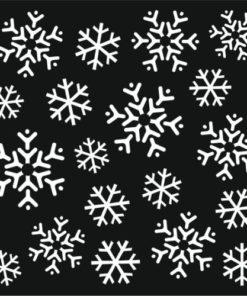 Stencil / Snow flury
