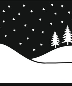 Stencil / Winter hills / 15x15 cm