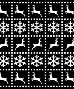 Stencil / Christmas quilt / 15x15 cm