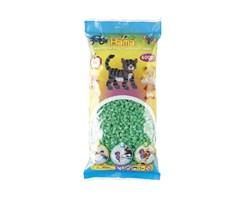 Hama midi perler, L.grøn / 6000 stk