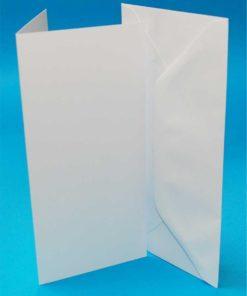 Kort & Kuverter / Hvide, 50 stk / DL