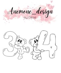 Stempel / Teddy bear 3-4 / Anemone Design