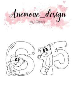 Stempel / Teddy bear 5-6 / Anemone Design