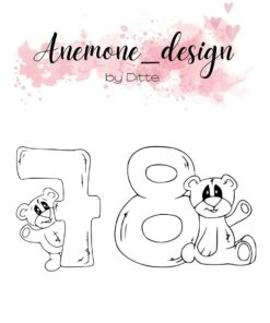 Stempel / Teddy bear 7-8 / Anemone Design