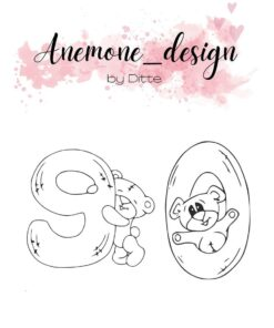Stempel / Teddy bear 9-0 / Anemone Design