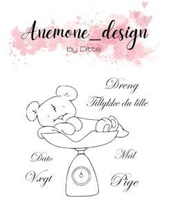 Stempel / Teddy Bear / Anemone Design