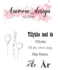 Stempel / Balloons / Anemone Design