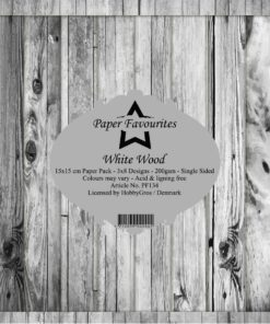 Karton 15x15 cm / White wood