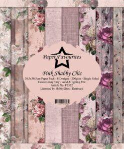 Karton 30x30 cm / Pink chabby chic
