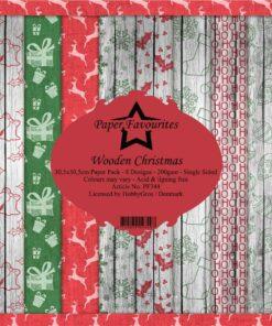Karton 30x30 cm / Christmas wooden