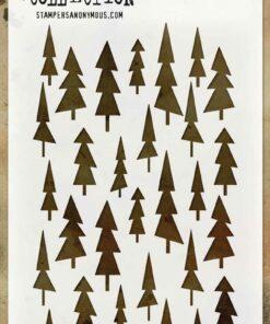 Stencil / Tree lot / Tim Holtz