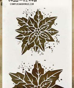 Stencil / Poinsettia duo / Tim Holtz