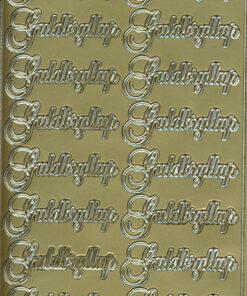Stickers / Guldbryllup / Guld