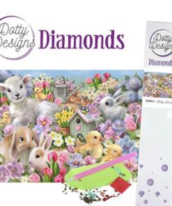 Diamant sæt / Dyreunger / Dotty Design