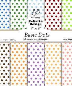 Karton 15x15 cm / Basic dots