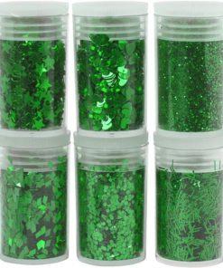 Glitter, Pailletter / Sequins, grøn