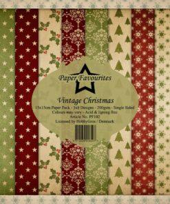 Karton 15x15 cm / Vintage Christmas