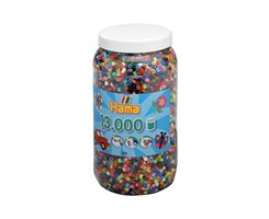 Hama midi perler, 13.000 stk, farvet mix