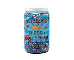 Hama midi perler, 13.000 stk, mix