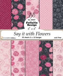 Karton 15x15 cm / Flowers / Felicita Design