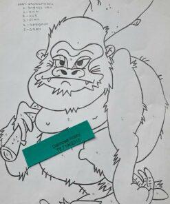 Sur / Gorilla / Lap på lap