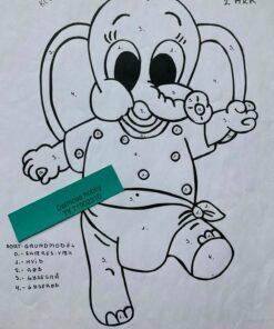 Baby elefant-pige / Lap på lap
