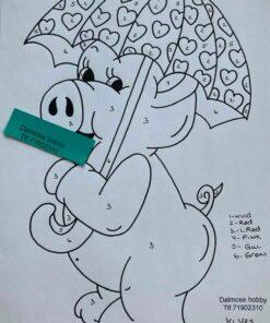 Gris med paraply / Lap på lap