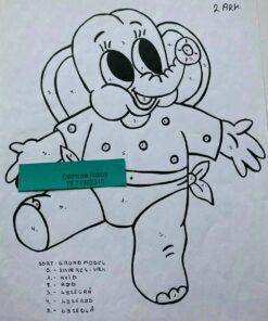 Baby drenge-elefant / Lap på lap