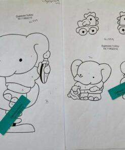 Uro / Legetøjs elefant / Lap på lap