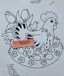 Høne med kyllinger / Lap på lap