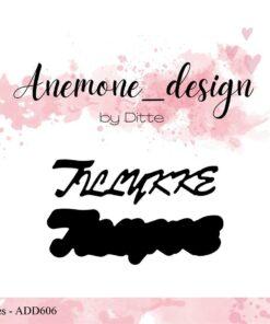 Dies / Tillykke / Anemone Design