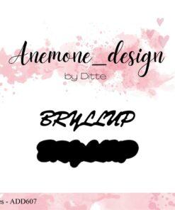 Dies / Bryllup / Anemone Design