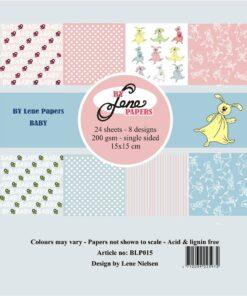Papirblok 15 x 15 cm / Baby / By Lene
