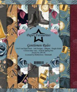 Karton 15 x 15 cm / Gentlemen rules