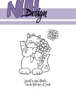 Stempel / Drage med blomster / NHH Design