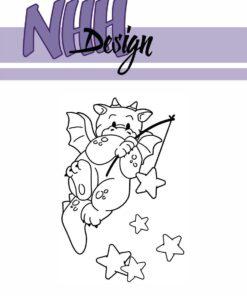 Stempel / Drage med stjerner / NHH Design