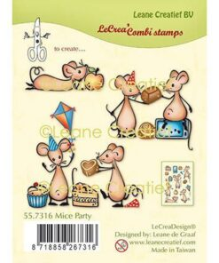 Stempel / Mice party / Leane Creatief