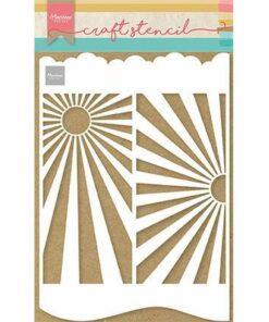 Stencil / Slimline sunburst / Marianne Design