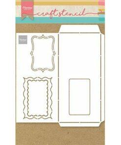Stencil / Slimline envelope / Marianne Design