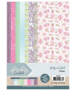 Karton A4 / Flowers / Card deco