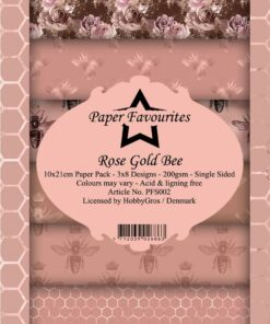 Karton slimcard / Rose gold bee / Paper favourite