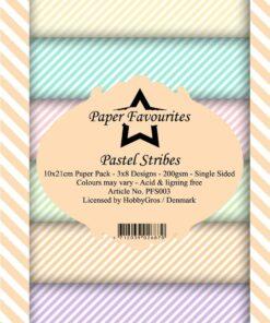 Karton slimcard / Pastel stribes / paper favourite