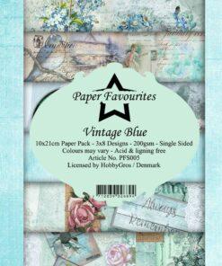 Karton slimcard / Vintage blue / Paper favourite