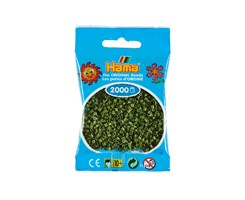 Hama mini perler / 2000 stk, oliven